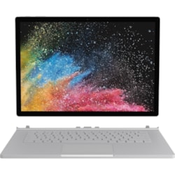 "Microsoft Surface Book 2 38.1 cm (15"") Touchscreen LCD 2 in 1 Notebook - Intel Core i7 (8th Gen) i7-8650U Quad-core (4 Core) 1.90 GHz - 16 GB LPDDR3 - 256 GB SSD - Windows 10 Pro 64-bit - 3240 x 2160 - PixelSense - Hybrid - Silver"