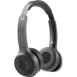 Cisco Wired/Wireless Over-the-head Stereo Headset - Carbon Black