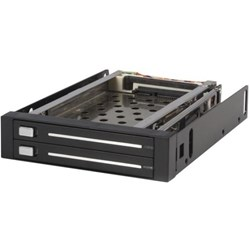 "StarTech.com Drive Enclosure for 3.5"" Serial ATA/600 - Serial ATA/600 Host Interface Internal - Black"