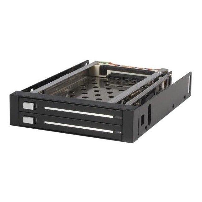 "StarTech.com Drive Enclosure for 3.5"" - Serial ATA/600 Host Interface Internal - Black"