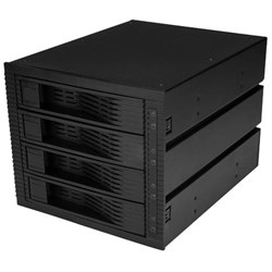 "StarTech.com Drive Enclosure for 5.25"" 6Gb/s SAS, Serial ATA/600 - 6Gb/s SAS, Serial ATA/600 Host Interface Internal - Black"