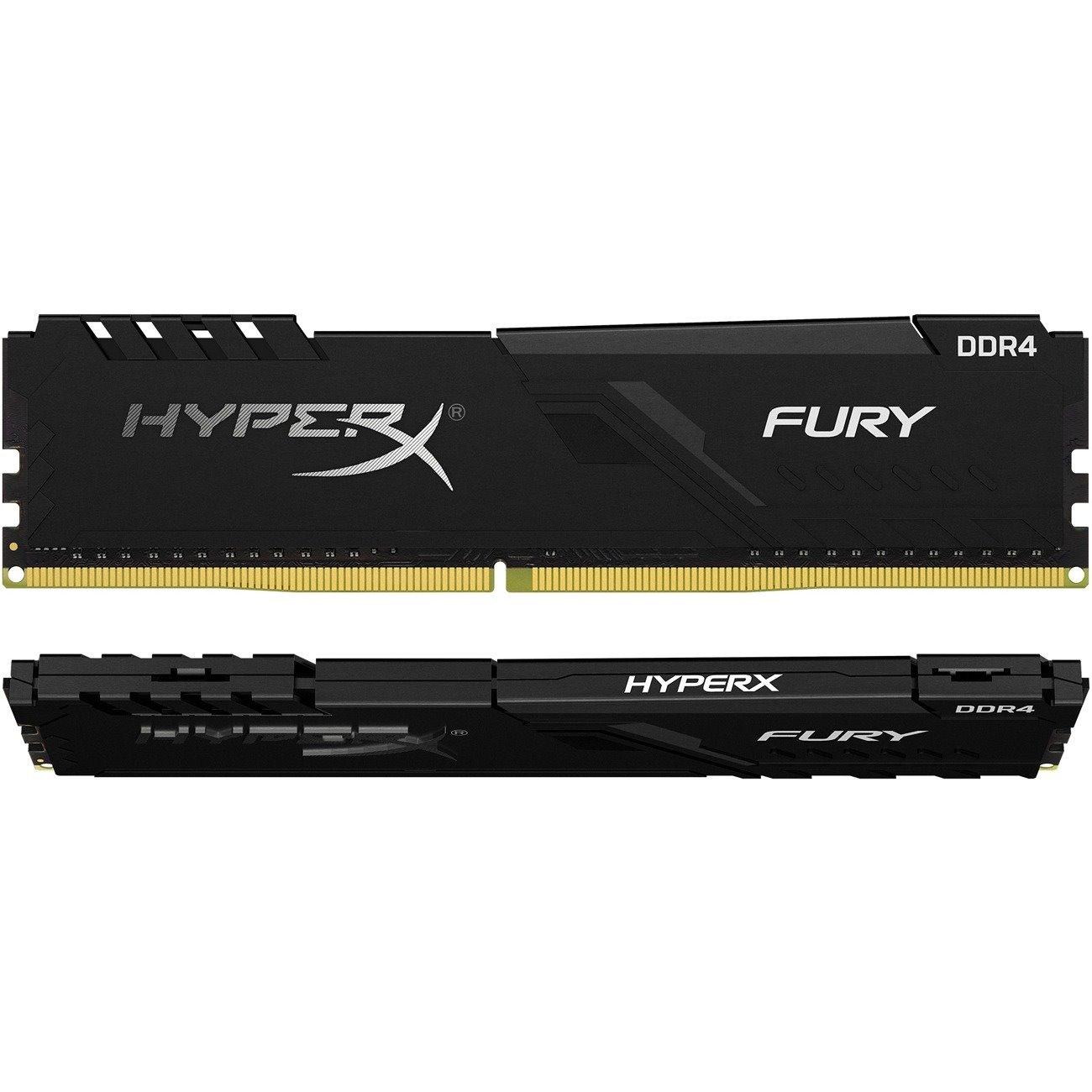 HyperX Fury RAM Module for Desktop PC - 8 GB (2 x 4 GB) - DDR4-2400/PC4-19200 DDR4 SDRAM - CL15 - 1.20 V