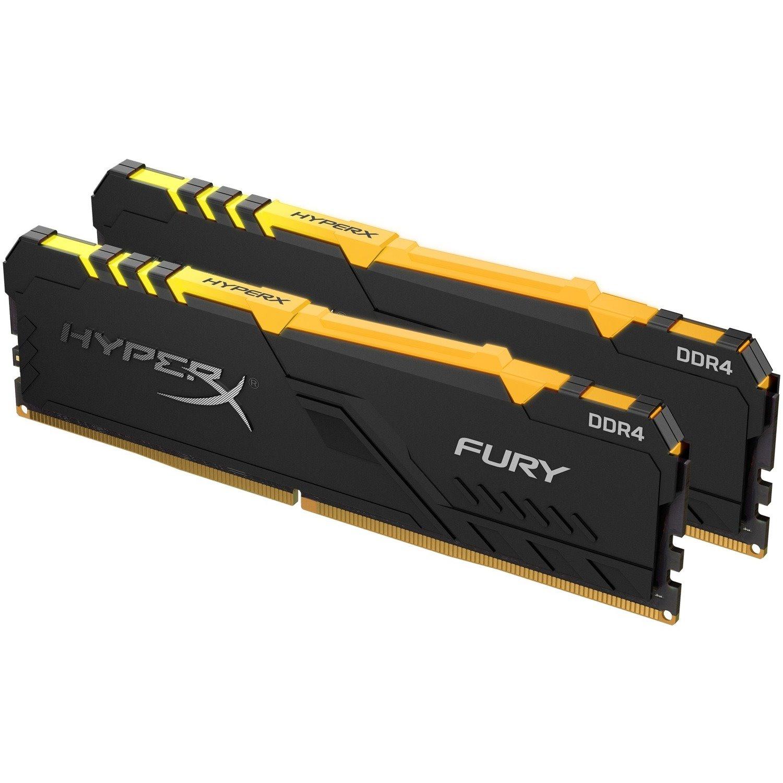 HyperX Fury RAM Module - 16 GB (2 x 8 GB) - DDR4-2666/PC4-21333 DDR4 SDRAM - CL16 - 1.20 V