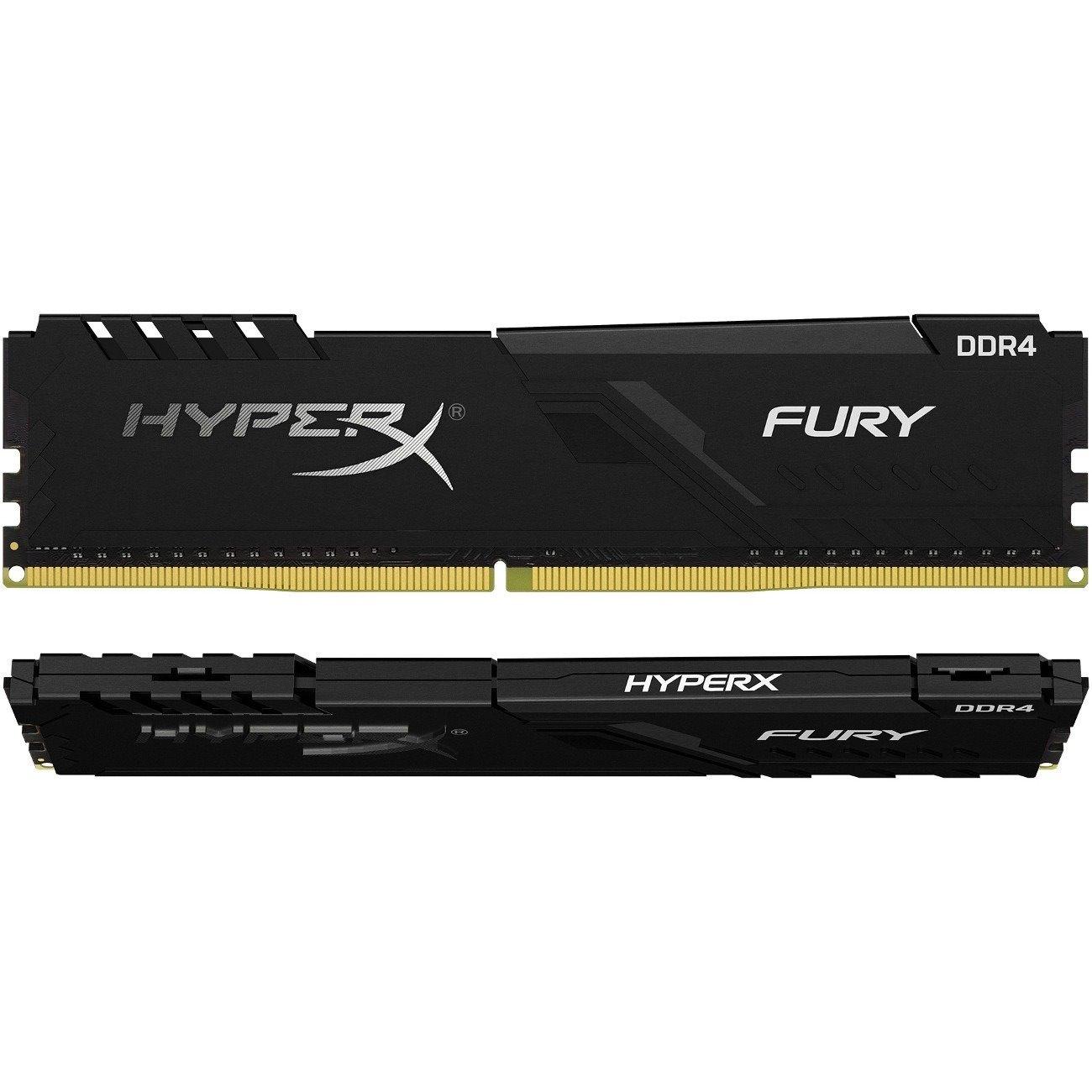 Kingston Fury RAM Module - 32 GB (2 x 16 GB) - DDR4-2666/PC4-21333 DDR4 SDRAM - CL16 - 1.20 V