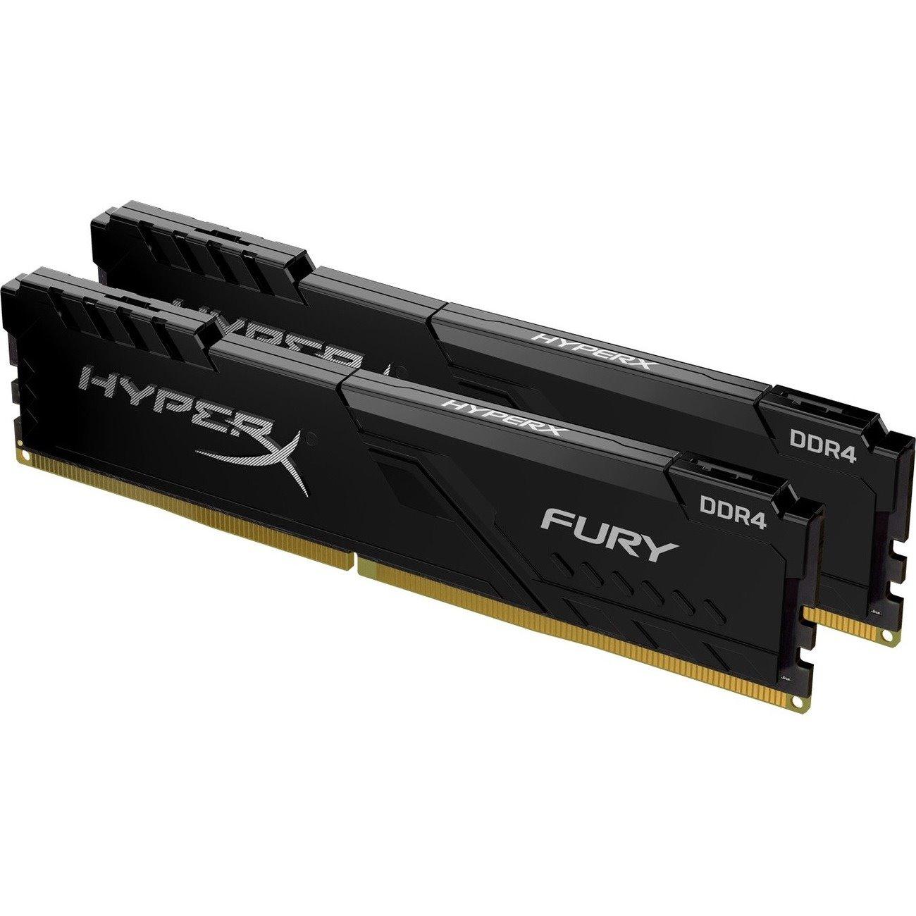 HyperX FURY RAM Module for Desktop PC, Workstation - 32 GB (2 x 16 GB) - DDR4-2666/PC4-21333 DDR4 SDRAM - CL16 - 1.20 V
