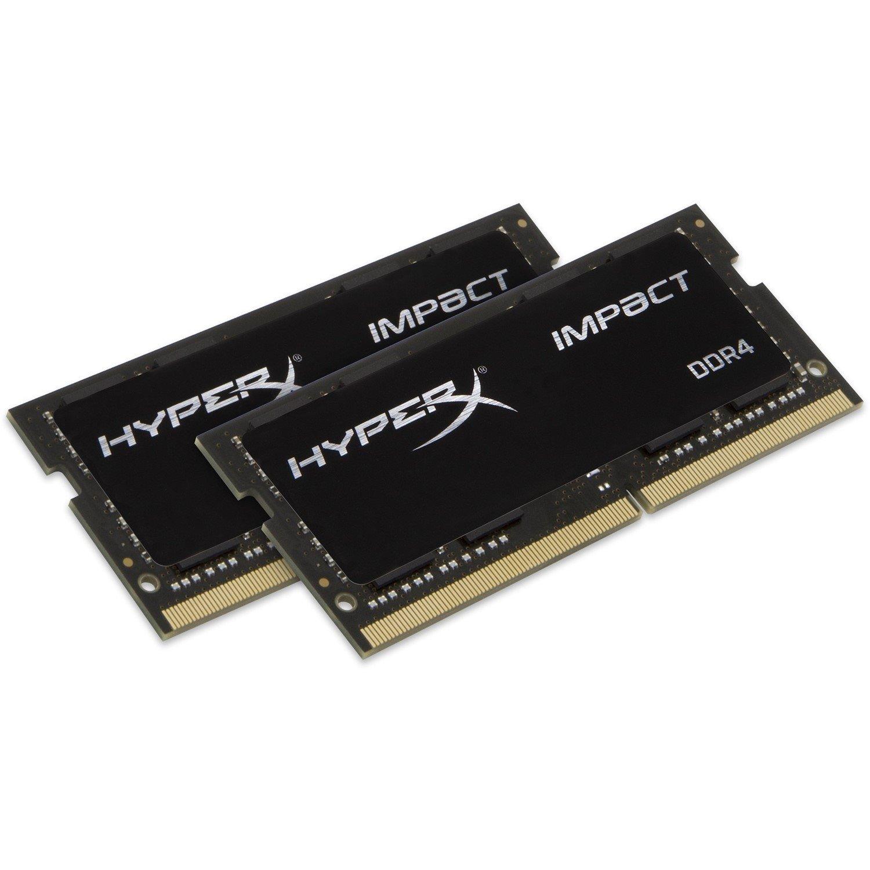 Kingston HyperX Impact RAM Module - 32 GB (2 x 16 GB) - DDR4-2666/PC4-21300 DDR4 SDRAM - CL15 - 1.20 V
