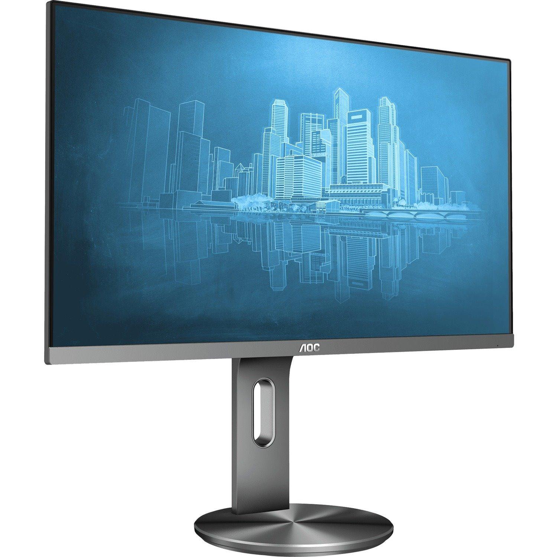 "AOC i2490PXQU 60.5 cm (23.8"") Full HD LCD Monitor - 16:9 - Grey"