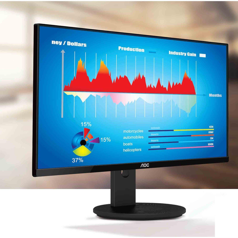 "AOC I2490VXQ 60.5 cm (23.8"") Full HD WLED LCD Monitor - 16:9 - Black"