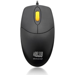 Adesso iMouse iMouse W3 Mouse - Optical - Cable - 4 Button(s) - Black, Yellow