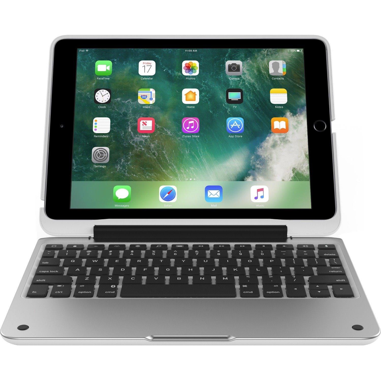 """Incipio ClamCase Pro Keyboard/Cover Case for 24.6 cm (9.7"""") iPad Pro (2017) - Silver, White"""
