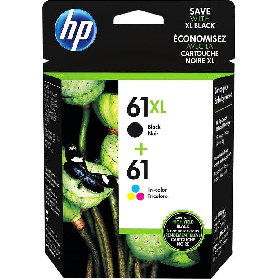 HP 61XL Original Ink Cartridge/Paper Kit Value Pack - Black, Cyan, Magenta, Yellow