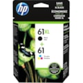 HP 61XL Original Ink Cartridge/Paper Kit Value Pack - Black, Cyan, Magenta, Yellow