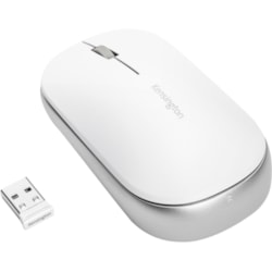 Kensington SureTrack Mouse - Bluetooth/Radio Frequency - USB 2.0 - Optical - 3 Button(s) - White - 1 Pack - TAA Compliant