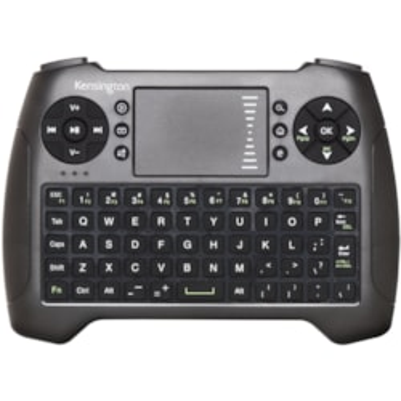 Kensington Keyboard - Wireless Connectivity - USB Interface - TouchPad - Black