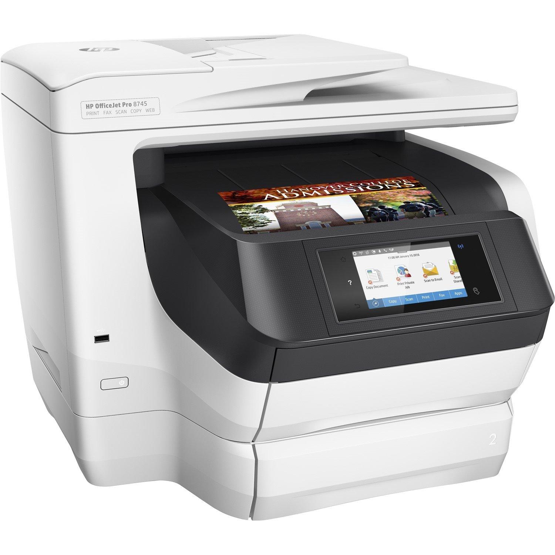 HP Officejet Pro 8745 Inkjet Multifunction Printer - Colour - Plain Paper Print - Desktop