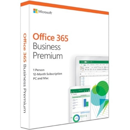 Microsoft Office 365 2019 Business Premium 32/64-bit for Developed Market With 1 Year Substription - Box Pack - 1 Phone, 1 Tablet, 1 PC/Mac - 1 Year - Medialess
