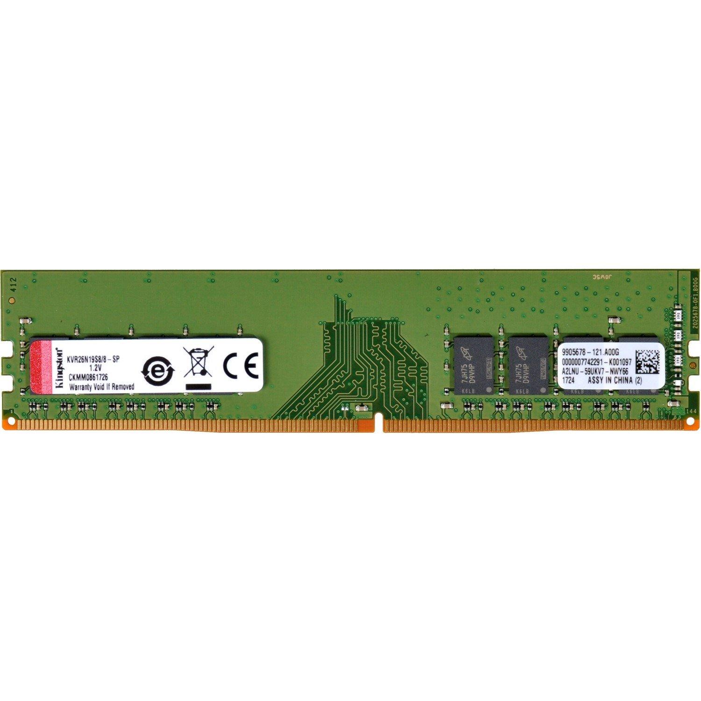 Kingston ValueRAM RAM Module - 8 GB (1 x 8 GB) - DDR4-2666/PC4-21300 DDR4 SDRAM - CL19 - 1.20 V