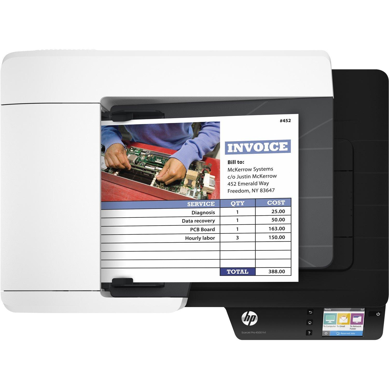 HP ScanJet Pro 4500 fn1 Flatbed Scanner - 1200 dpi Optical