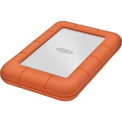 "LaCie Rugged Mini 301558 1 TB Hard Drive - 2.5"" Drive - External - Portable - Orange, Silver"