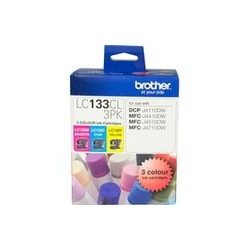 Brother LC133CL3PK Ink Cartridge - Cyan, Magenta, Yellow
