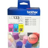 Brother LC133CL3PK Original Ink Cartridge - Cyan, Magenta, Yellow