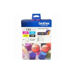 Brother LC133PVP Ink Cartridge - Black, Cyan, Yellow, Magenta