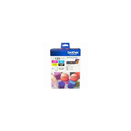 Brother LC133PVP Original Ink Cartridge Value Pack - Black, Cyan, Yellow, Magenta