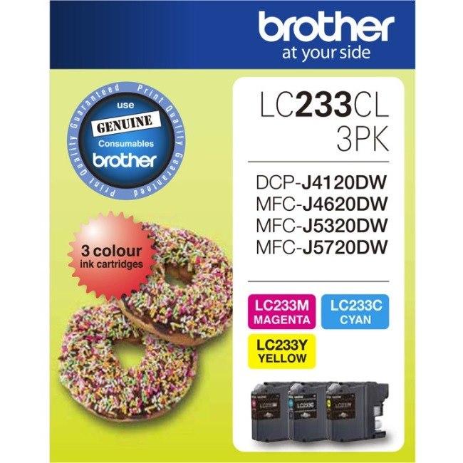 Brother LC233CL3PK Original Ink Cartridge - Value Pack - Cyan, Magenta, Yellow