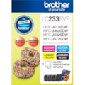Brother LC233PVP Original Ink Cartridge/Paper Kit - Value Pack - Black, Cyan, Magenta, Yellow