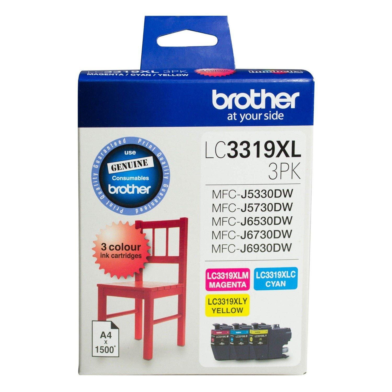 Brother LC3319XL3PK Original Ink Cartridge - Cyan, Magenta, Yellow