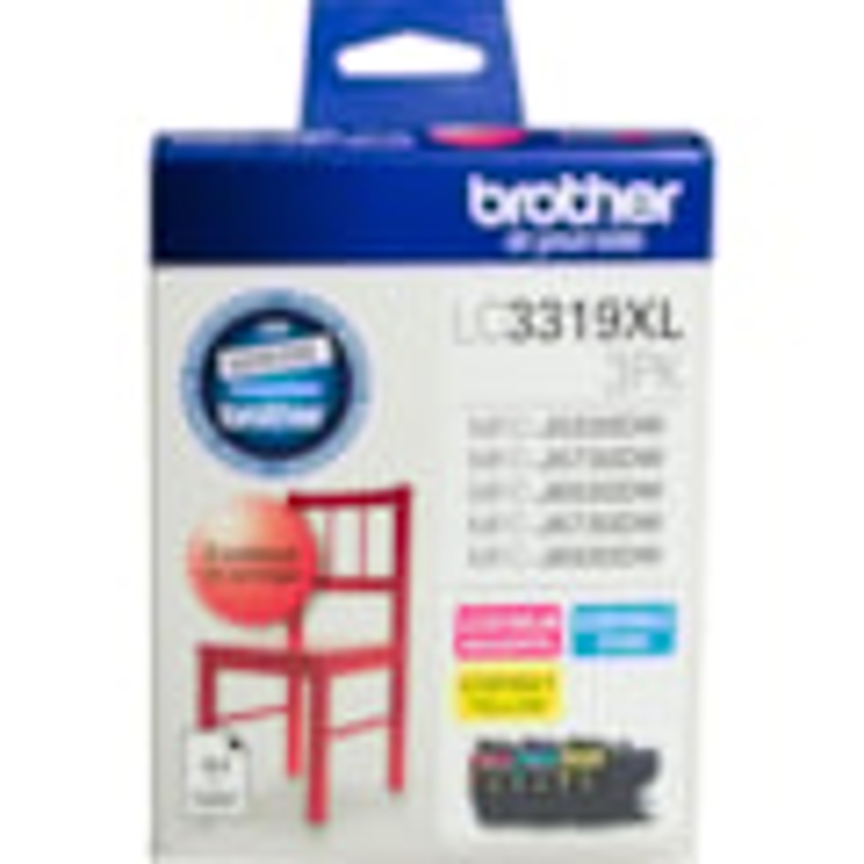 Brother LC3319XL3PK Ink Cartridge - Cyan, Magenta, Yellow