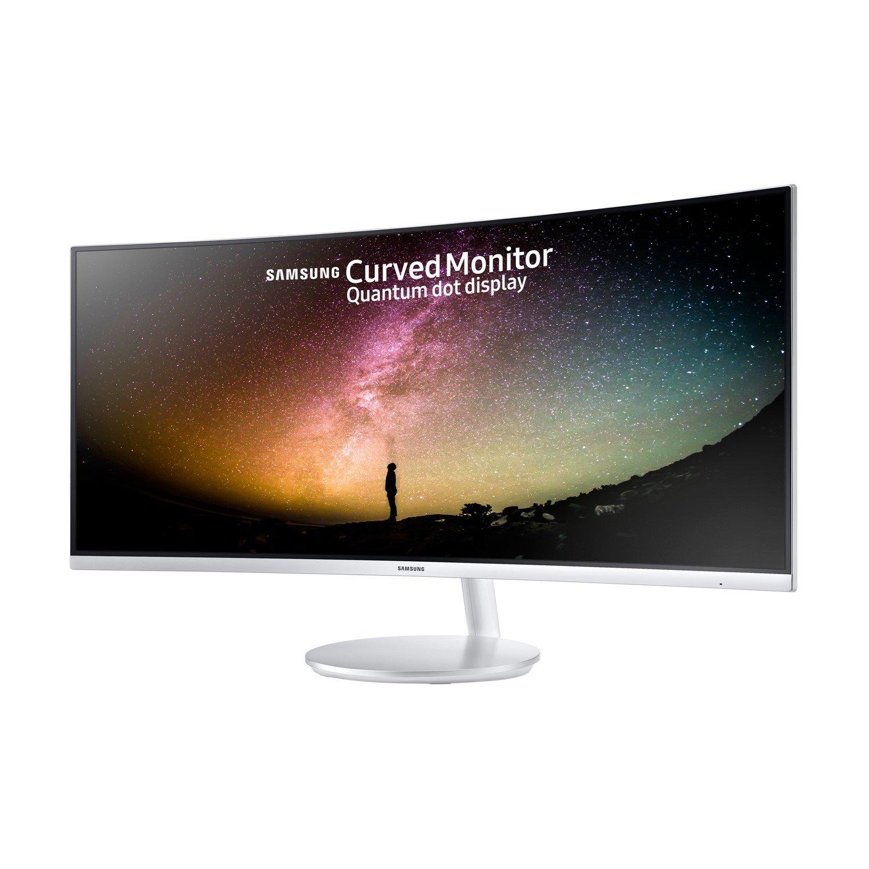 "Samsung LC34F791WQEXXY 86.4 cm (34"") UW-QHD Curved Screen LED LCD Monitor - 21:9 - White"