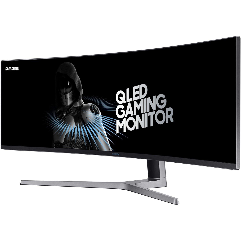"Samsung C49HG90 124.2 cm (48.9"") Double Full HD (DFHD) Curved Screen Quantum Dot LED OLED Monitor - 32:9 - Charcoal Black"