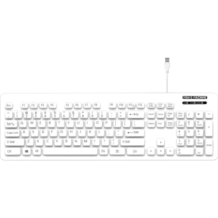 Man & Machine L Cool Keyboard - Cable Connectivity - USB Interface - English (US) - White