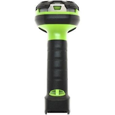 Zebra LI3678-ER Handheld Barcode Scanner Kit - Wireless Connectivity - Industrial Green