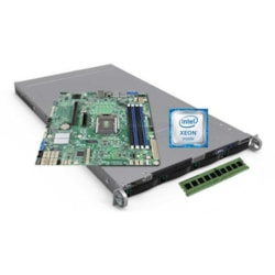 Intel Server System LR1304SPCFG1R 1U Rack Server - 1 x Intel Xeon E3-1230 v6 Quad-core (4 Core) 3.50 GHz - 16 GB Installed DDR4 SDRAM - Serial ATA, 12Gb/s SAS Controller - 0, 1, 10 RAID Levels - 2 x 450 W