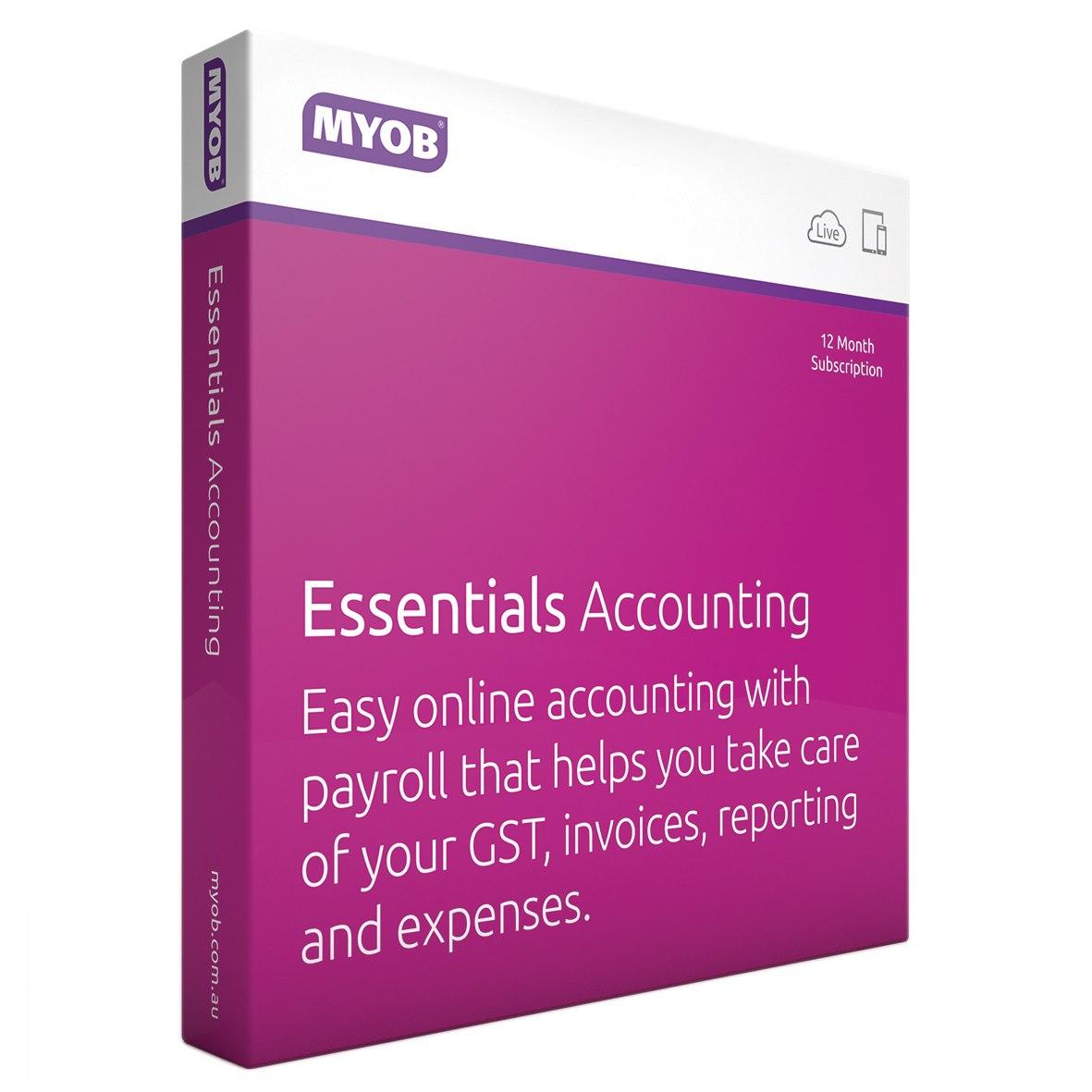 MYOB Essentials Accounting With Payroll