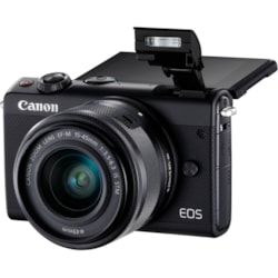 Canon EOS M100 24.2 Megapixel Mirrorless Camera with Lens - 15 mm - 45 mm - Black