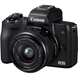Canon EOS M50 24.1 Megapixel Mirrorless Camera with Lens - 15 mm - 45 mm - Black