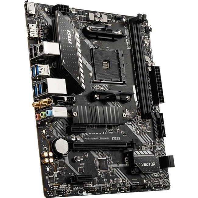 MSI MAG A520M VECTOR WIFI Desktop Motherboard - AMD Chipset - Socket AM4