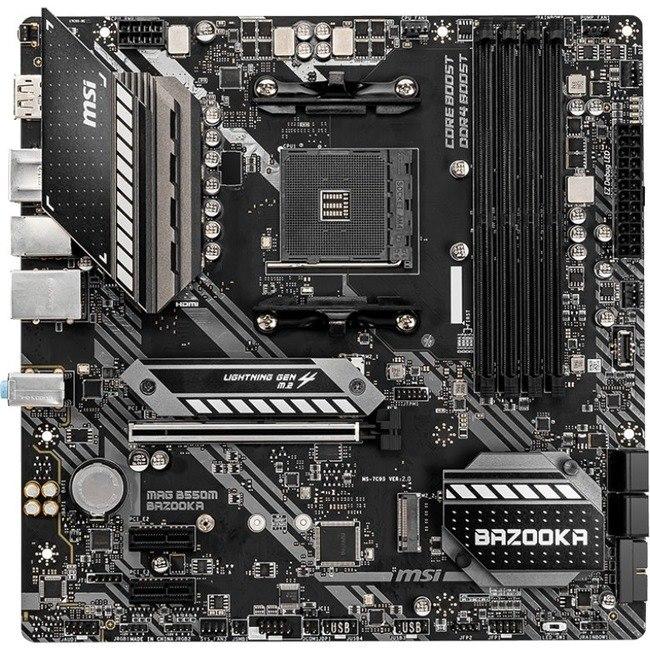 MSI MAG B550M BAZOOKA Desktop Motherboard - AMD Chipset - Socket AM4