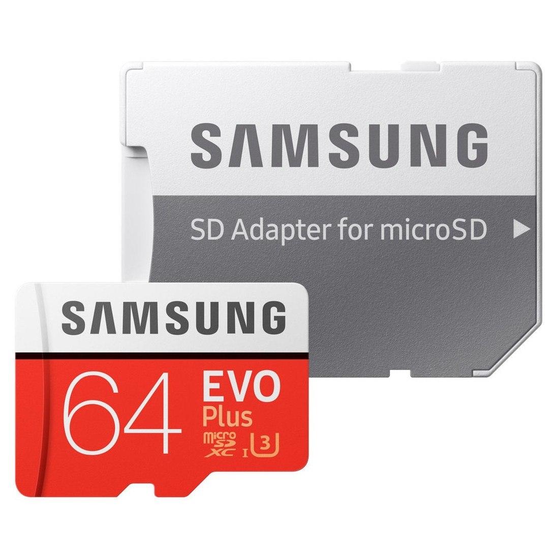 Samsung EVO Plus 64 GB Class 10/UHS-I (U3) microSDXC