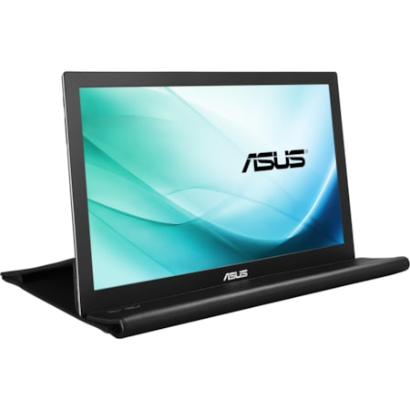 "Asus MB169B+ 39.6 cm (15.6"") Full HD LED LCD Monitor - 16:9 - Silver, Black"