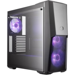 Cooler Master MasterBox MCB-B500D-KGNN-S00 Computer Case - ATX, Micro ATX, Mini ITX Motherboard Supported - Mid-tower - Steel, Plastic, Tempered Glass - Black - 6.35 kg