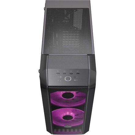 Cooler Master MasterCase H500 Computer Case - ATX, Micro ATX, Mini ITX Motherboard Supported - Mid-tower - Steel, Mesh, Acrylic, Plastic, Tempered Glass - Iron Grey