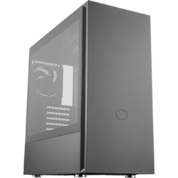 Cooler Master Silencio MCS-S600-KG5N-S00 Computer Case - Mini ITX, Micro ATX, ATX Motherboard Supported - Mid-tower - Steel, Plastic, Tempered Glass - Black