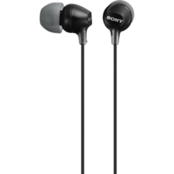 Sony Fashion MDR-EX15LP/B Wired Earbud Stereo Earphone - Black