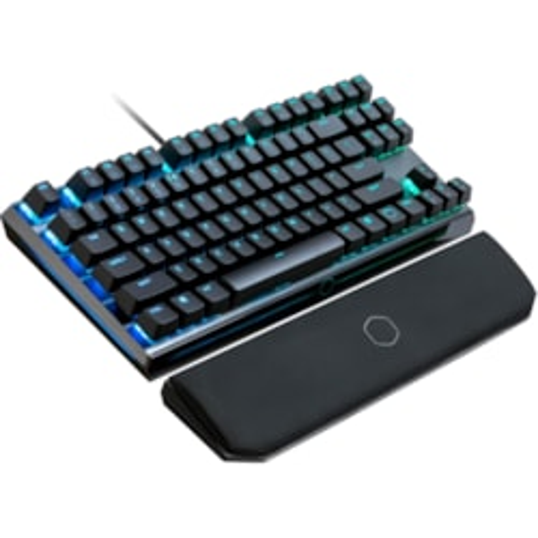 Cooler Master MK730 Keyboard - Cable Connectivity - USB 2.0 Type C Interface - Smoky Gunmetal Brushed Aluminum
