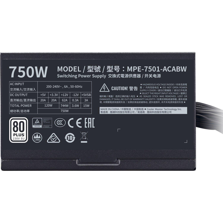 Cooler Master MPE-7501-ACABW ATX12V/EPS12V Power Supply - 750 W