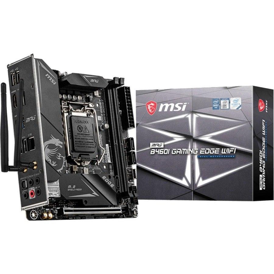 MSI MPG B460I GAMING EDGE WIFI Desktop Motherboard - Intel Chipset - Socket LGA-1200